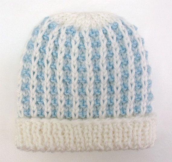 Baby Boy Hat Knit Newborn Infant Hospital by ...