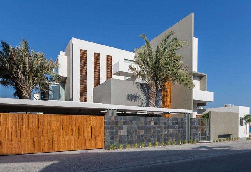 Planos de casa de tres pisos moderna fachada con for Diseno de apartamentos de 3 pisos