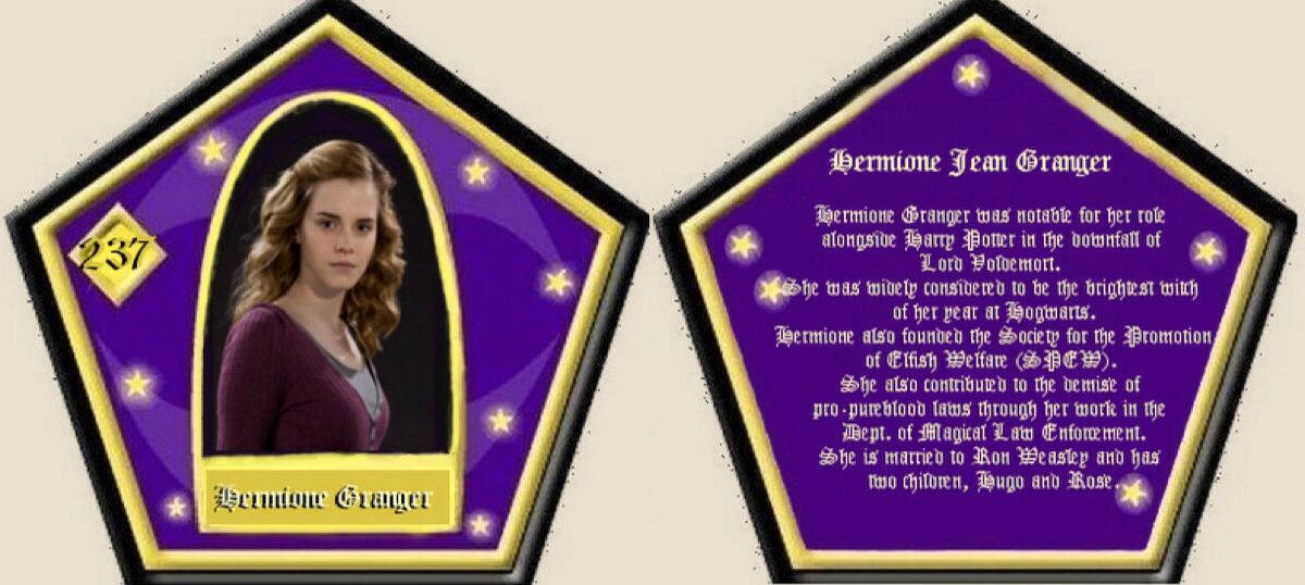 picture relating to Harry Potter Chocolate Frog Cards Printable referred to as Hermione Granger Chocolate Frog Card HP things and some