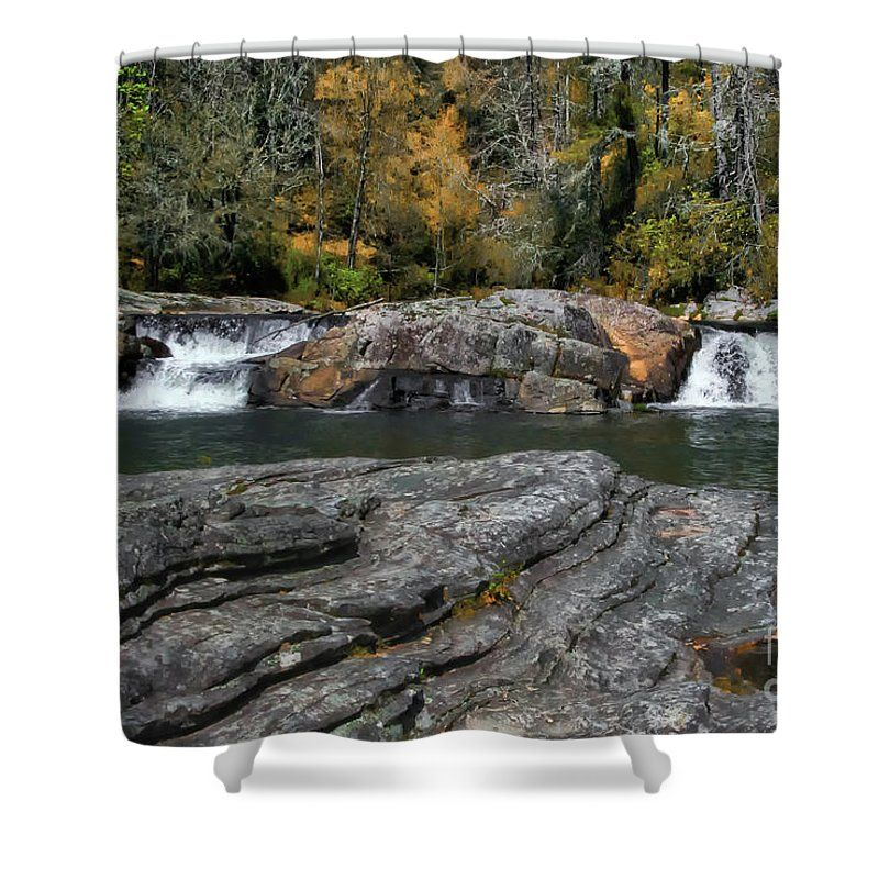Linville Falls Shower Curtain featuring the photograph Linville Falls - Lower View by Scott Hervieux