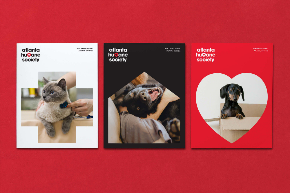 Brand New New Logo And Identity For Atlanta Humane Society By Matchstic Identity Logo Pet Adoption Center Humane Society
