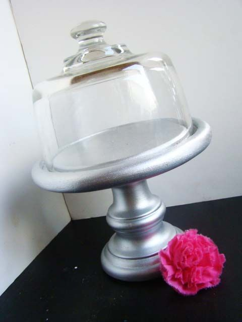 Cake Stand from Thirft Store finds Tutorial - can paint stand any color!!