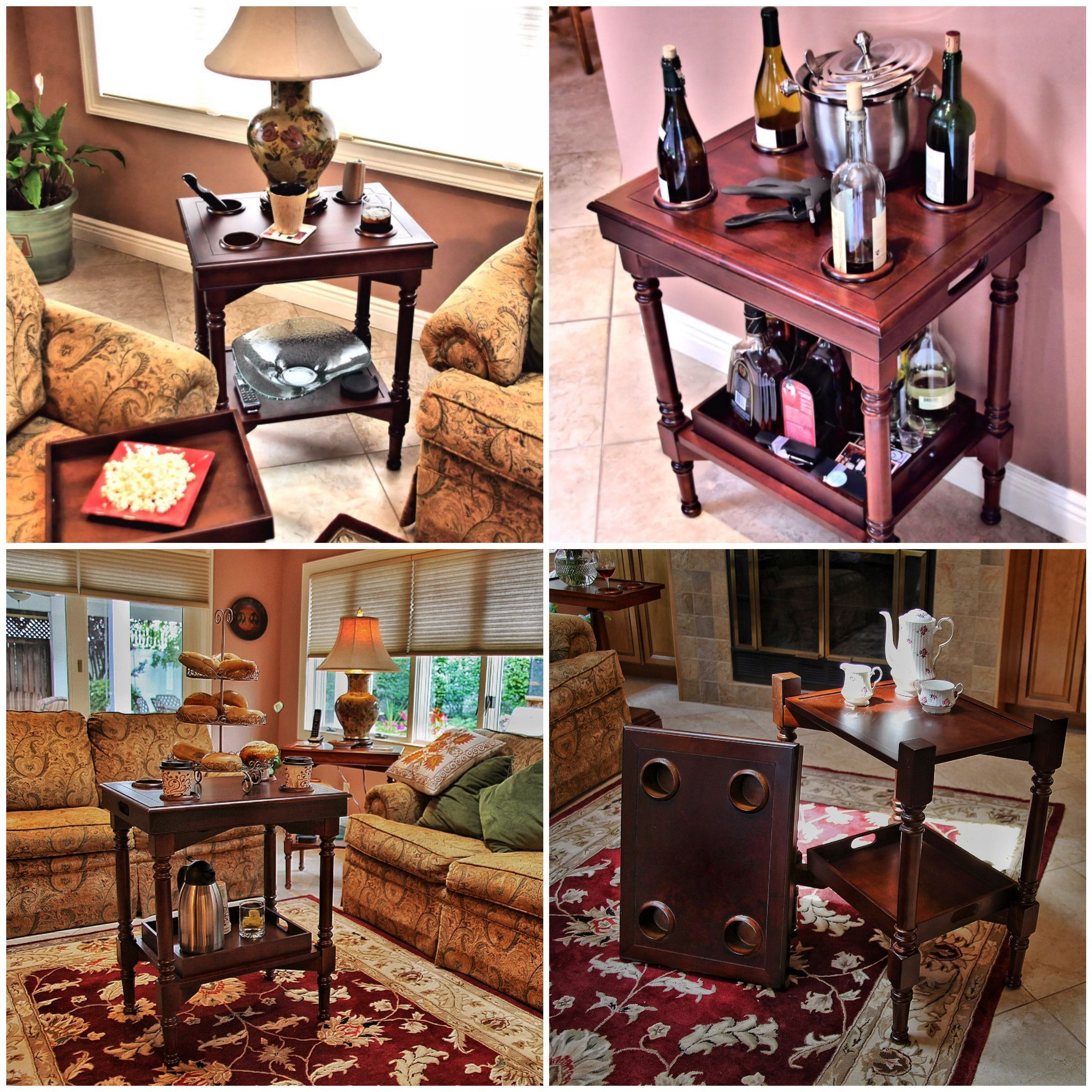 side folding table server christmas pinterest table wine rh pinterest co uk Mahogany Living Room Furniture Side Tables for Living Room