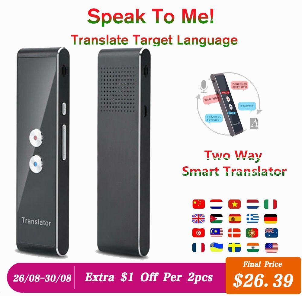 Smart Voice Translator Real Time Multi Language Speech Interactive
