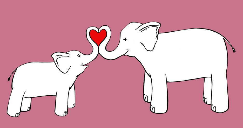 elephant line drawings this is a mom and baby elephant drawing i