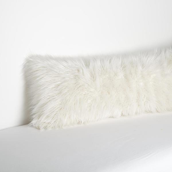 Faux Mongolian Body Pillow Cover Grey Body Pillow
