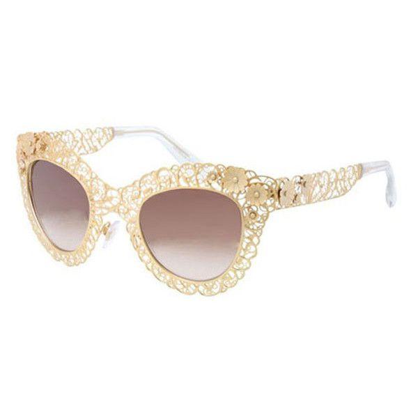 4dc51172859 Dolce   Gabbana DG2134 Filigrana 02 13 Sunglasses (2.205 VEF) ❤ liked on