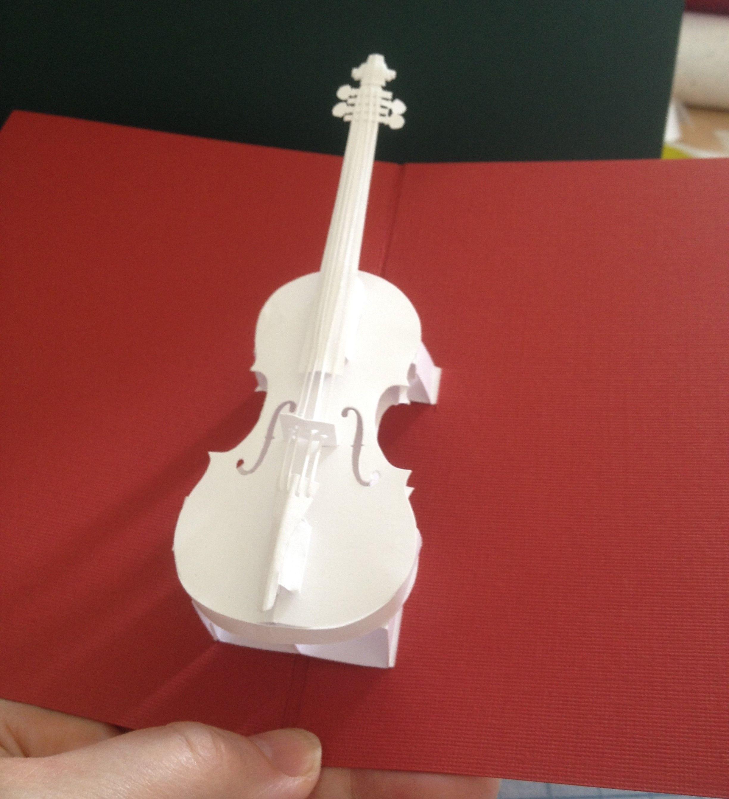 Violin Pop Up Card Template From Hiroko Ebook Nana Cards Pop