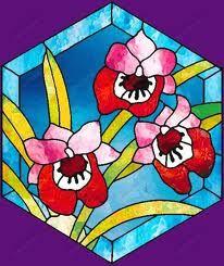 Витражи роспись на стекле   パターン