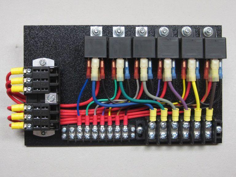 6 Relay Panel w/ PushOns Car audio installation