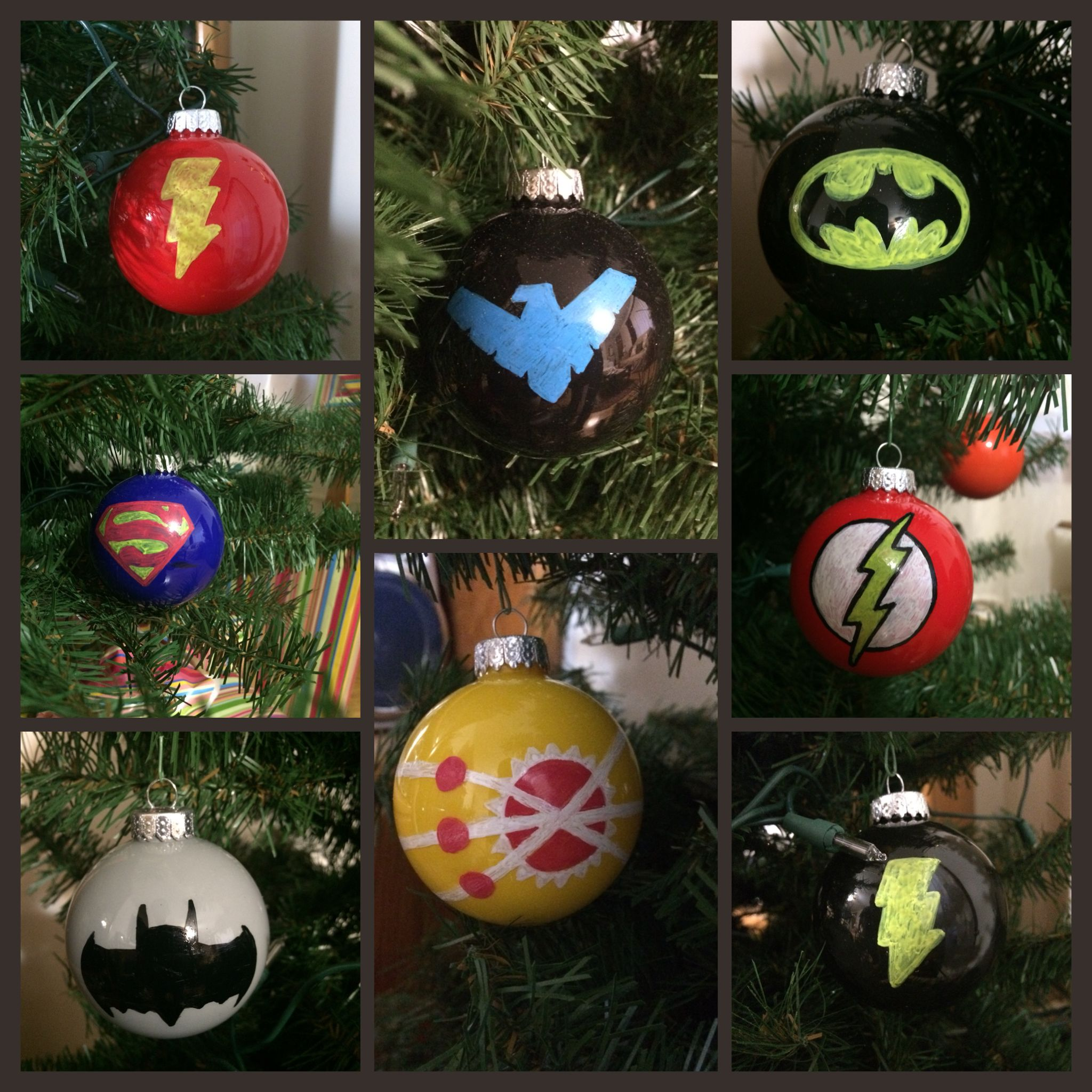 Hand-painted DC Comics Christmas ornaments: The Flash, Nightwing ...