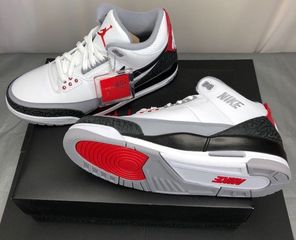 df96570ff4e8 AIR JORDAN 3 RETRO TINKER HATFIELD NRG WHITE BLACK-FIRE RED SIZE 11 AQ3835  160  fashion  clothing  shoes  accessories  mensshoes  athleticshoes (ebay  link)