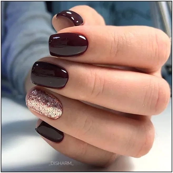 107 fall nail art ideas and autumn color combos to try on this season page 30 | Armaweb07.com #fallnails