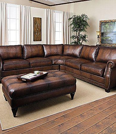 Bernhardtu0027s Bradley leather sectional. $2499 on sale. : bernhardt sectional leather - Sectionals, Sofas & Couches
