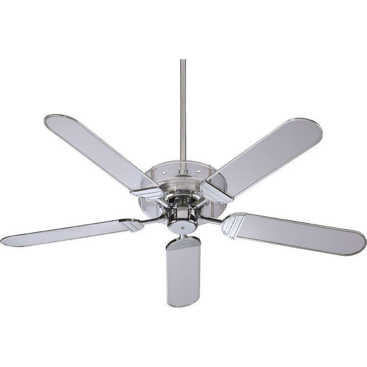 clear acrylic and chrome ceiling fan 314 quorum international rh pinterest com