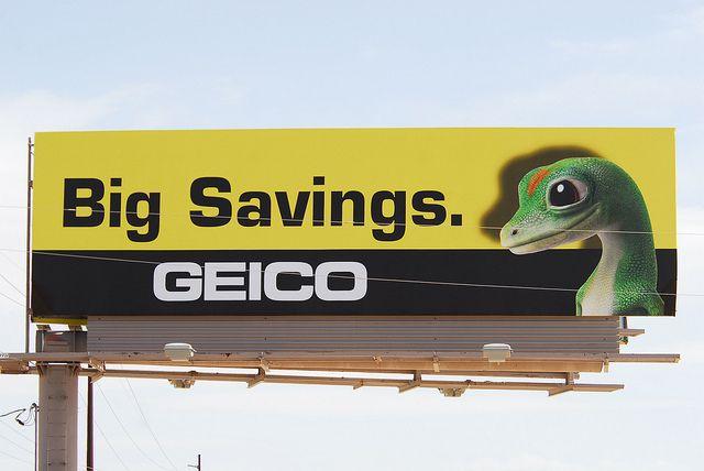 Geico Big Savings Billboard Design Review Save Big Big