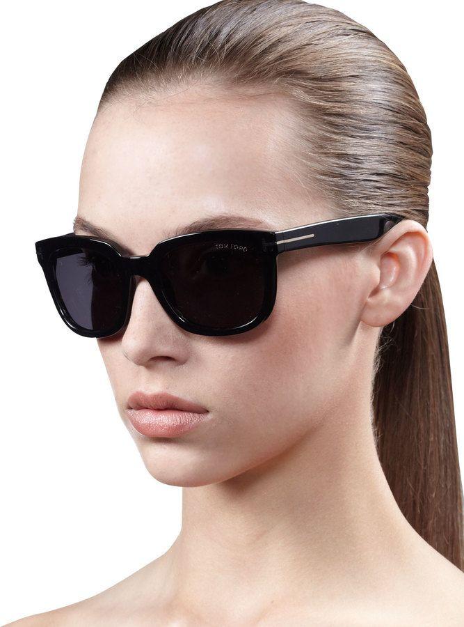 6db60707dc3b Tom Ford Campbell Metal-Detail  Sunglasses  TomFord