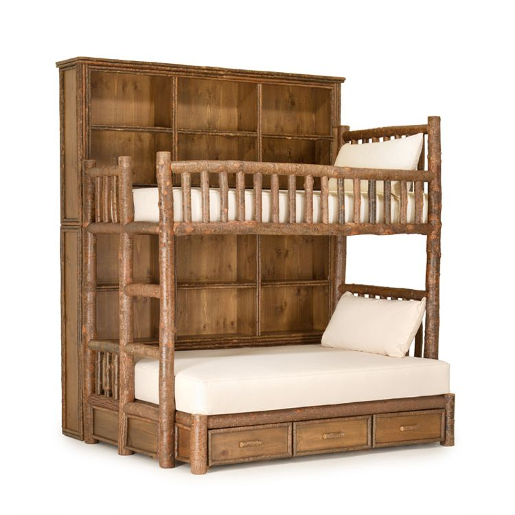 Custom Rustic Bunk Bed With Bookshelves By La Lune Collection Love This Design Plan Just Not