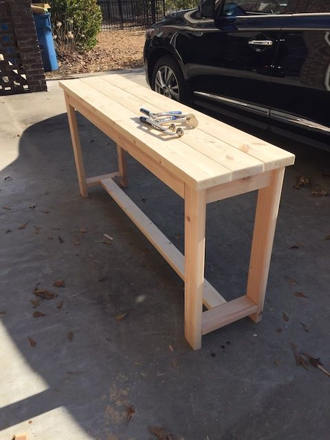 Diy X Brace Console Table Free Plans Living Room