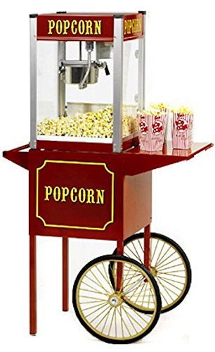 Price: $1099 - http://bit.ly/2ehDuEf - Popcorn Machine Popper Paragon Tp-8 W/Cart Theater Pop - Popcorn machine Popper by Paragon, TP-8 with cart. #1 commercial seller! 8 oz. ? Pops 147 one-ounce servings per hour.