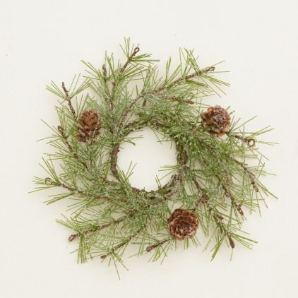 Your Heart's Delight by Audrey's - CANDLE RING-ICY PINE & PINECONES
