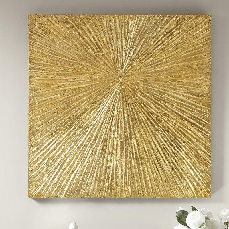 Sunburst Resin Dimensional Palm Box Wall Décor