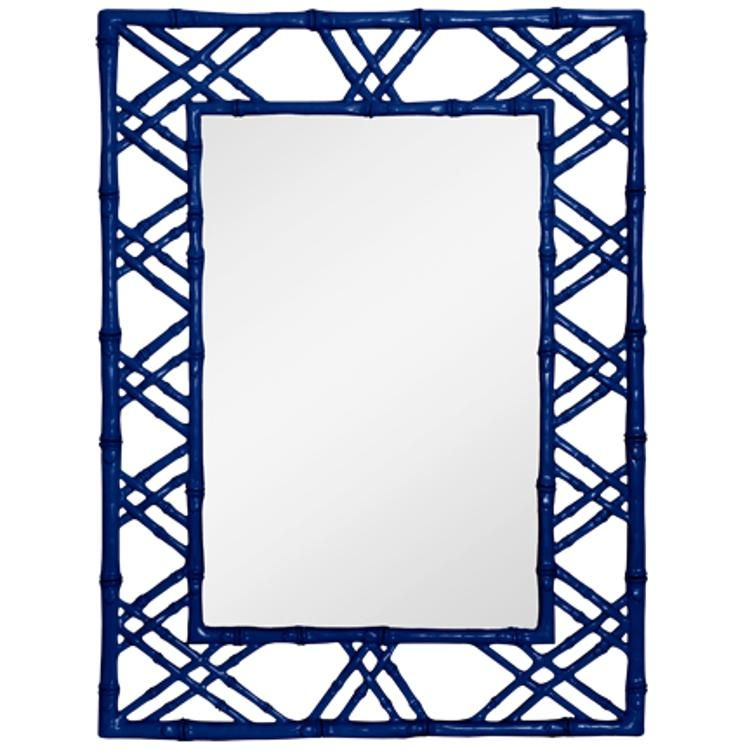 claire wall mirror in navy by bungalow