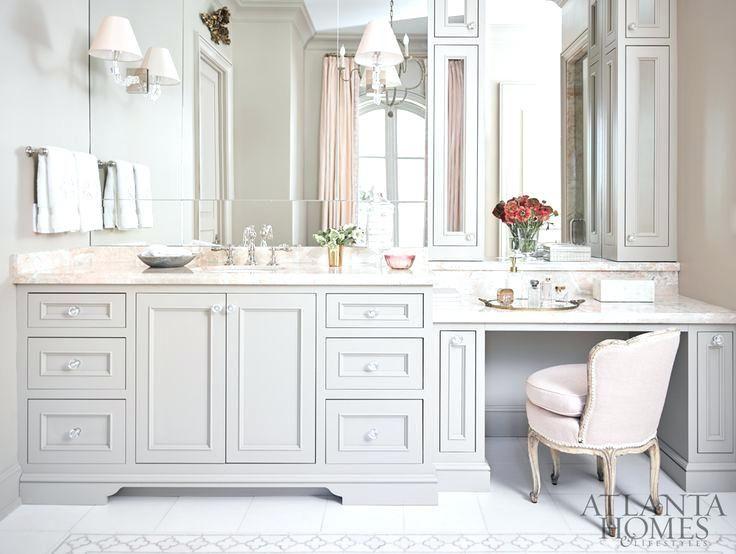 bathroom vanities with sitting area bathroom vanity sitting area rh pinterest com Bathroom Vanity with Makeup Space Bathroom Linen Closet with Vanity