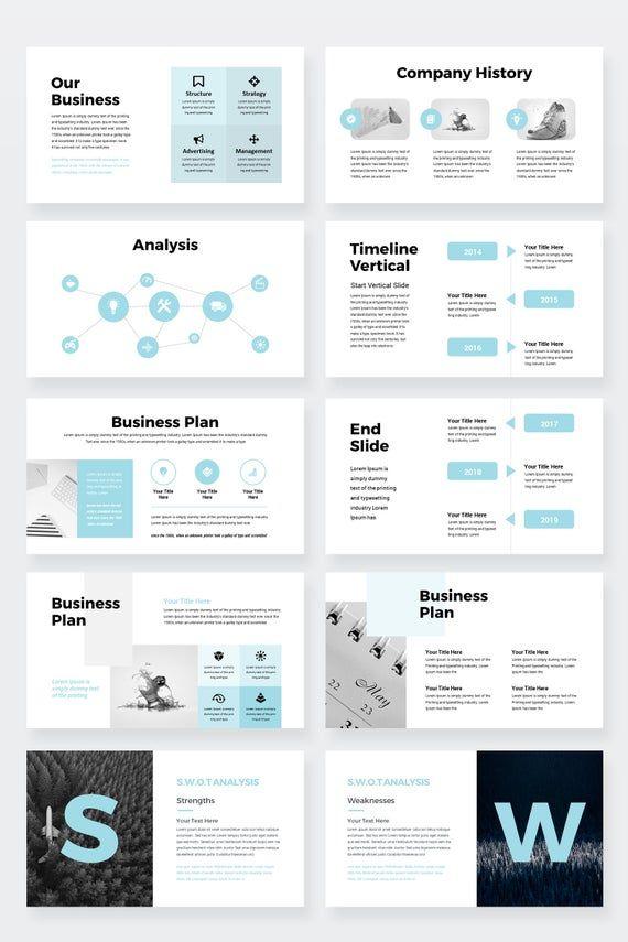 Clean Minimal Business Google Slides Presentation ...