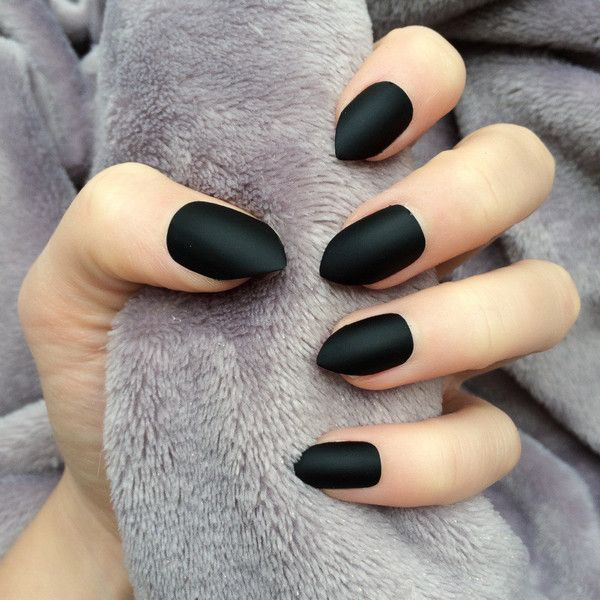 Nails Are In Sizes 0 9 With An Extra Pair Of Size 5 6 So You Receive 24 Altogether My Nails A Stiletto Nails Short Short Acrylic Nails Black Almond Nails
