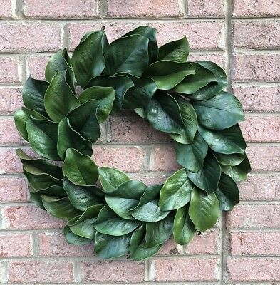"Photo of 24 ""magnolia wreath, large magnolia leaf door wreath, housewarming gift 680201534698 | eBay"
