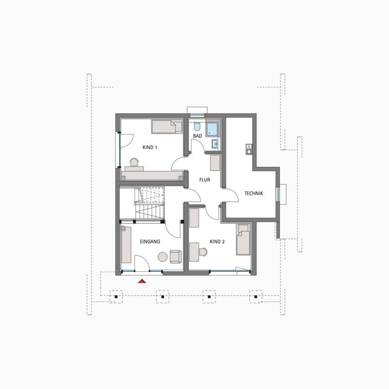 HUF Fachwerkhaus Grundriss Untergeschoss ART 3 Планы