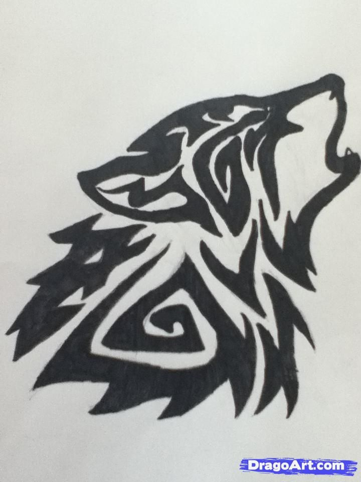 How To Draw A Howling Wolf Tattoo Tribal Howling Wolf By Dawn Howling Wolf Tattoo Tribal Wolf Tattoo Tribal Wolf