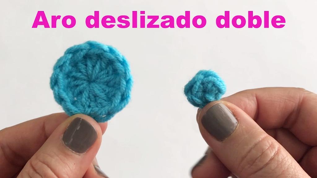 Cómo hacer un aro deslizado doble para tejer a #crochet. | labores ...