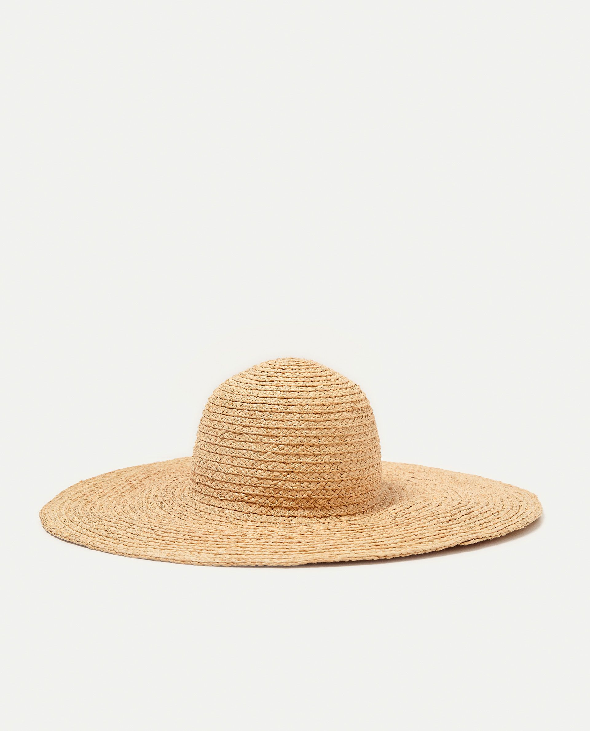 ZARA - WOMAN - FLOPPY RAFFIA HAT WITH FLORAL EMBROIDERY