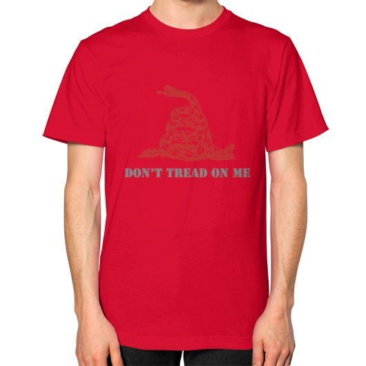 DONT TREAD ON ME Unisex T-Shirt (on man)