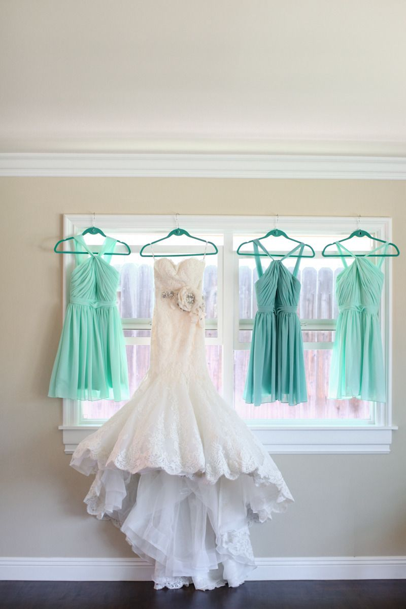 Romantic mint u peach arboretum wedding lace wedding dresses lace