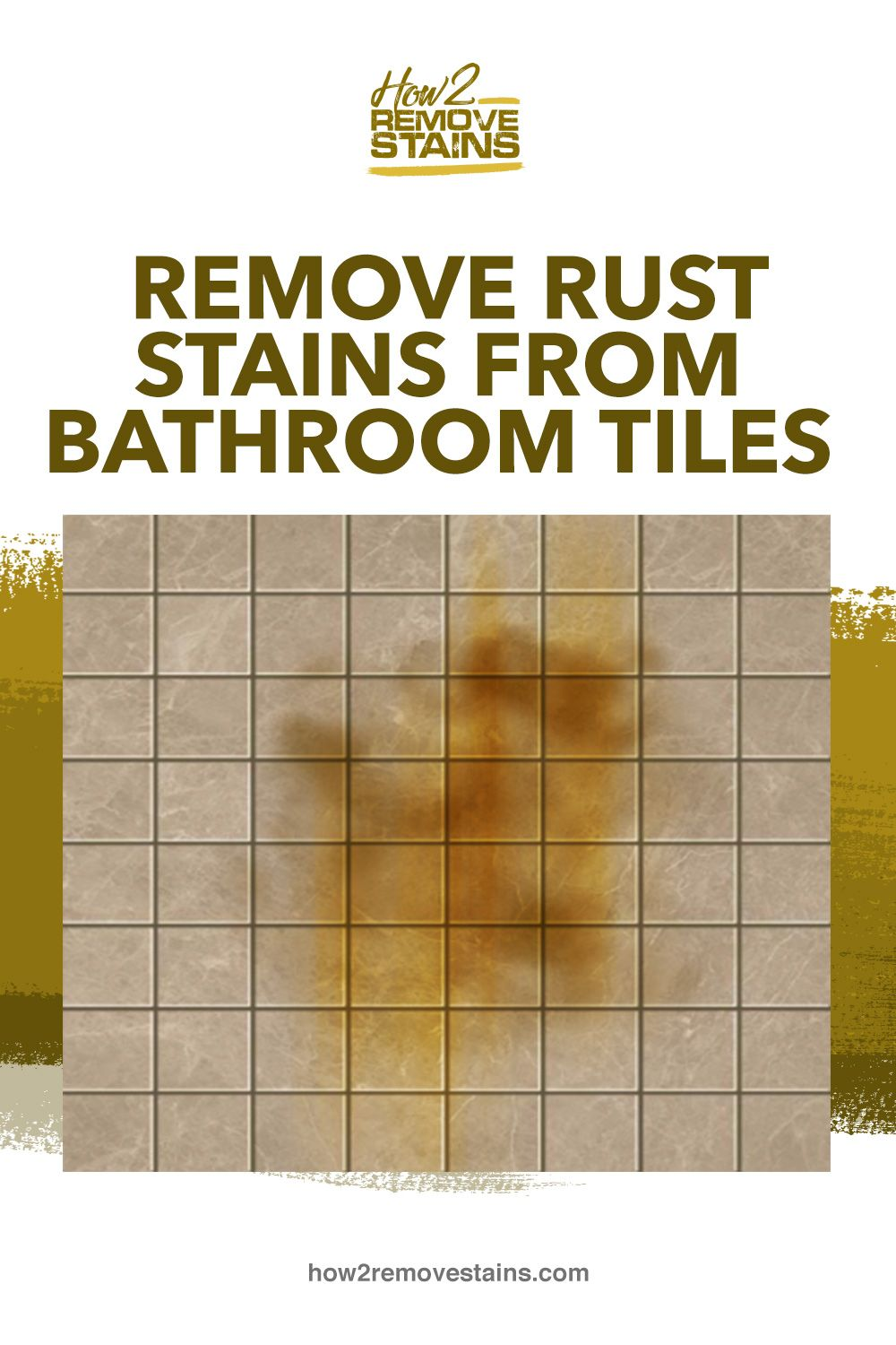 How to remove rust stains from bathroom tiles – Artofit