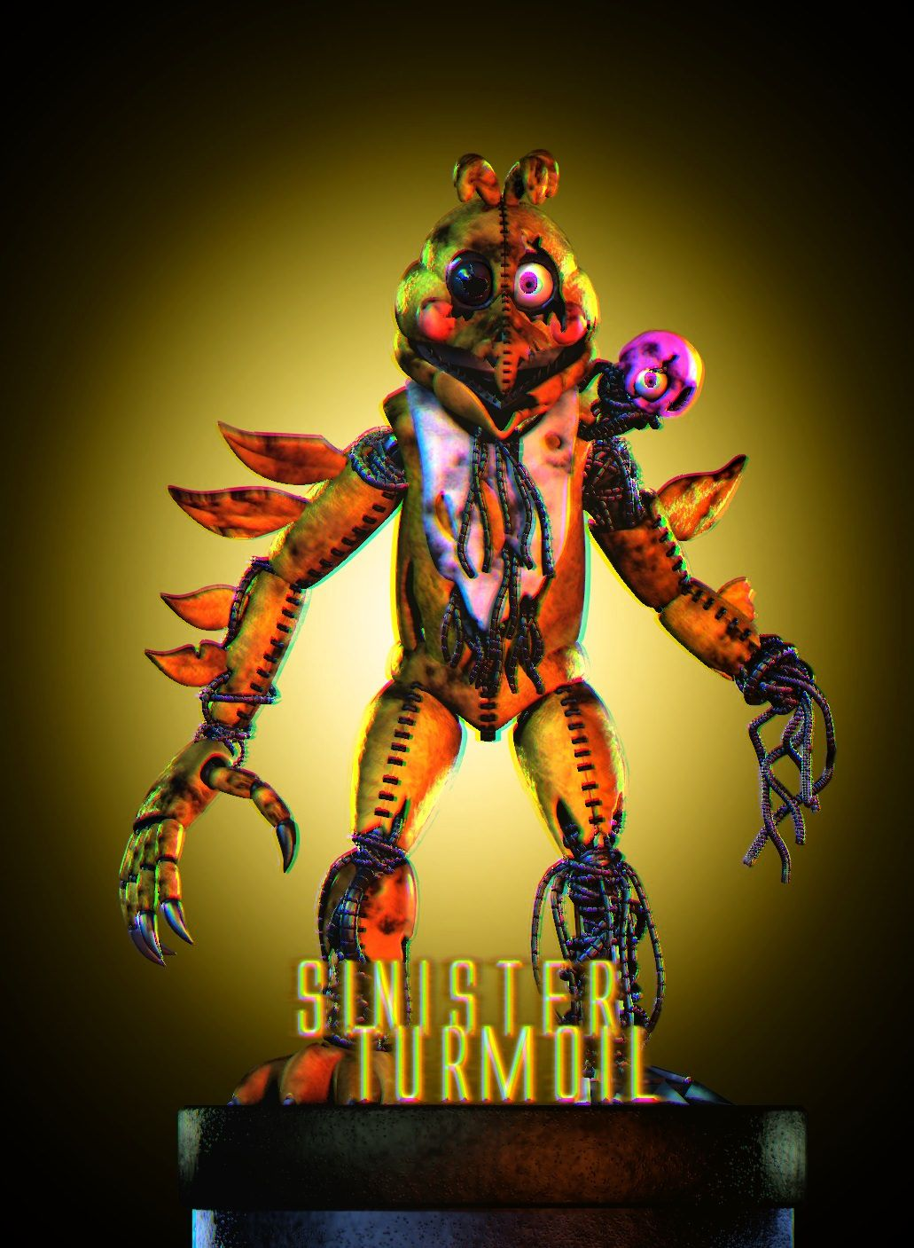 Spinning Chica Is A Presumed Antagonist In Sinister Turmoil She Is One Of The Characters At Fredbear And Fri Fnaf Drawings Five Nights At Freddy S Fnaf Freddy