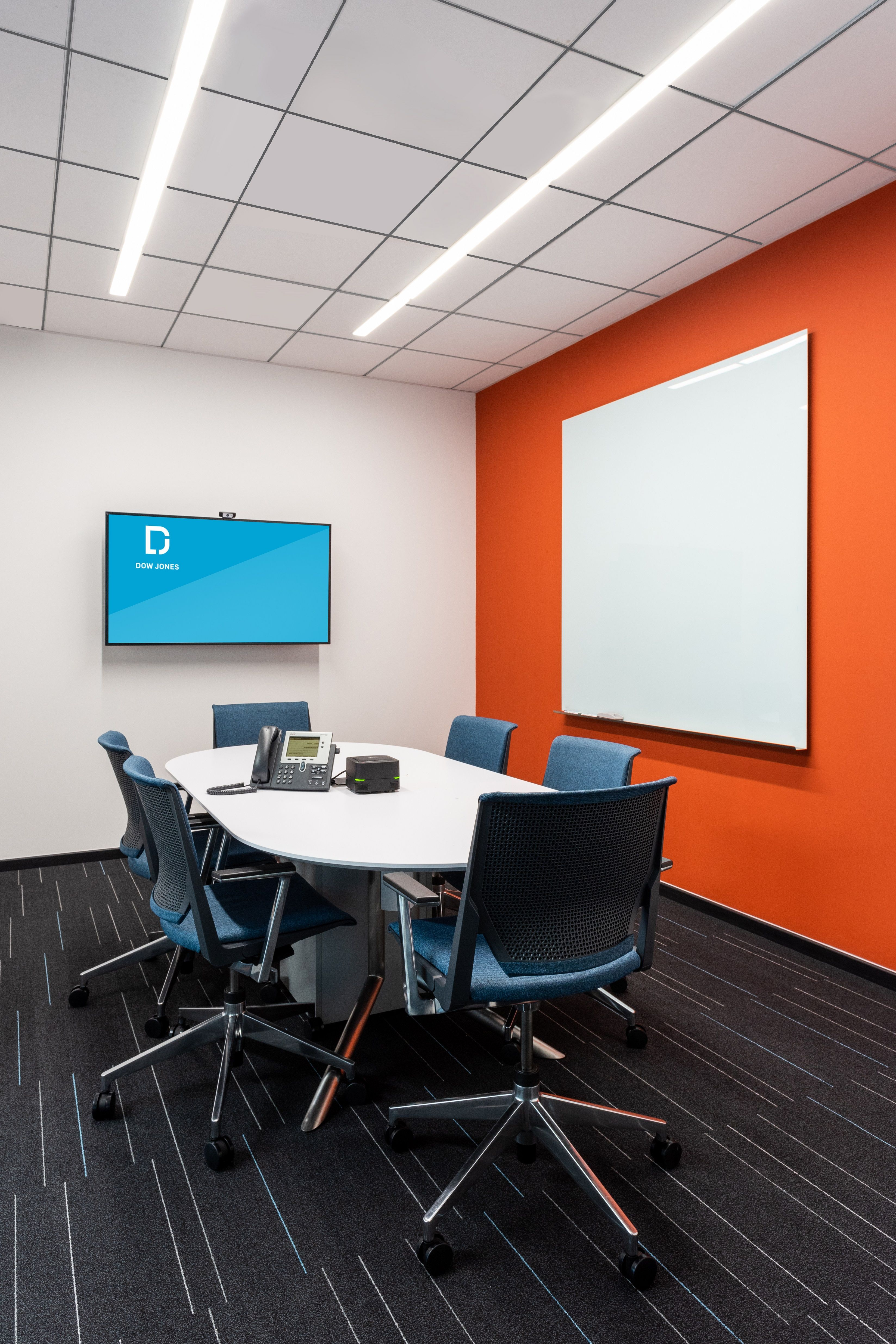 6 Pax Meeting Room With Colorful Wall Office Paint Colors Colour Pallete Home Modern conference room colors