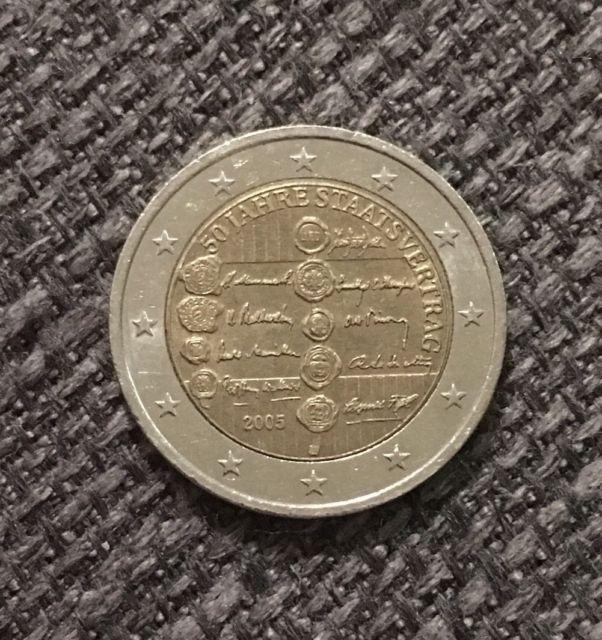 2 Euro österreich 2005 50 Jahre Staatsvertrag Ebay Error Coins