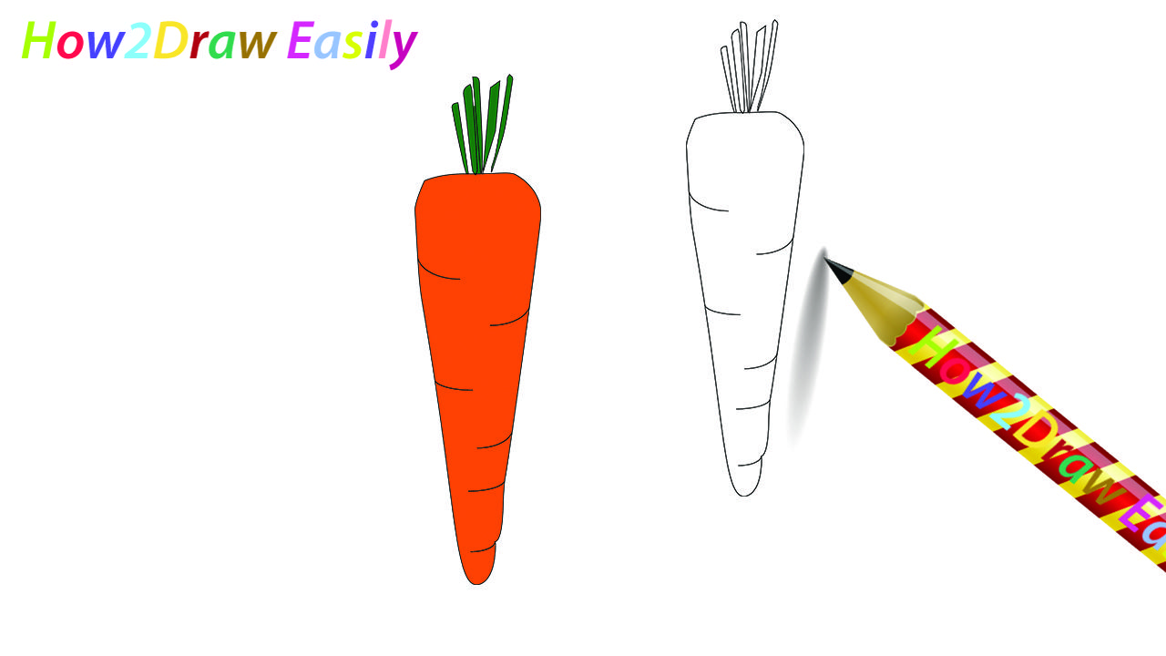 Carrot Drawing Coloring Carrot Draw Drawings