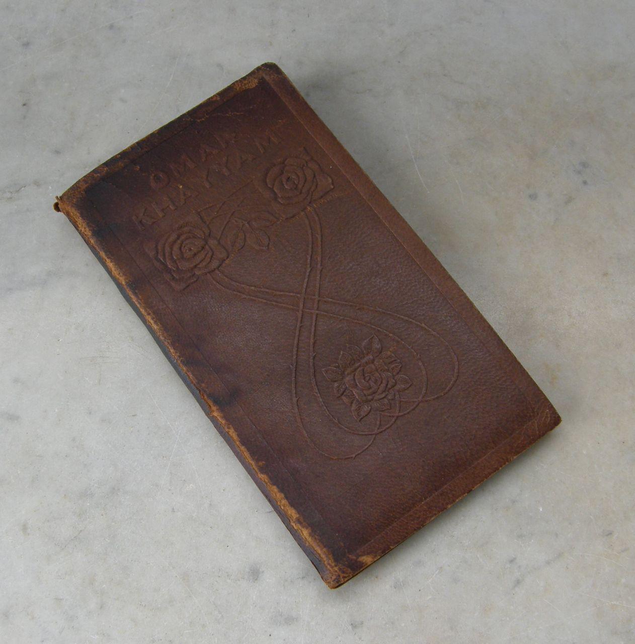RUBAIYAT of OMAR KHAYYAM Book Brown Leather Embossed Cover George ...