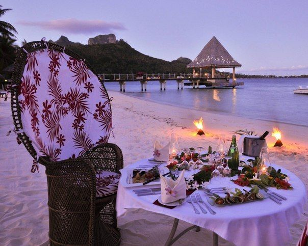 Wish you such romantic evening like this one on Bora-Bora