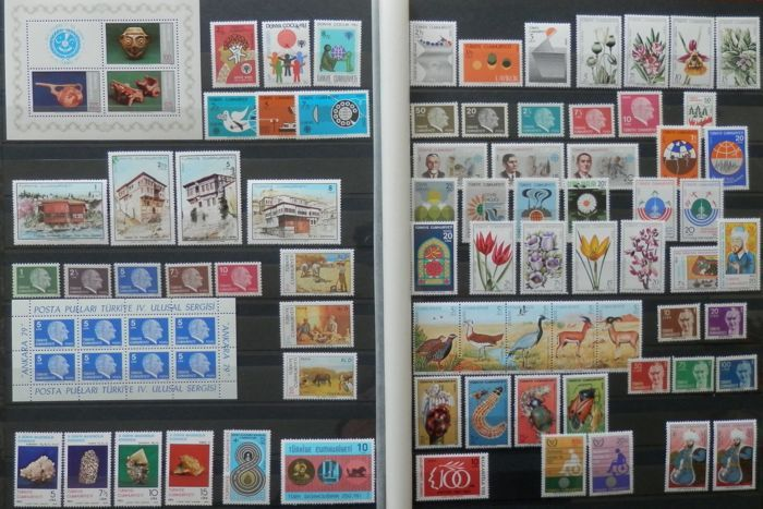 turkey 1950 s 2000 s postage stamps collection in leuchtturm album