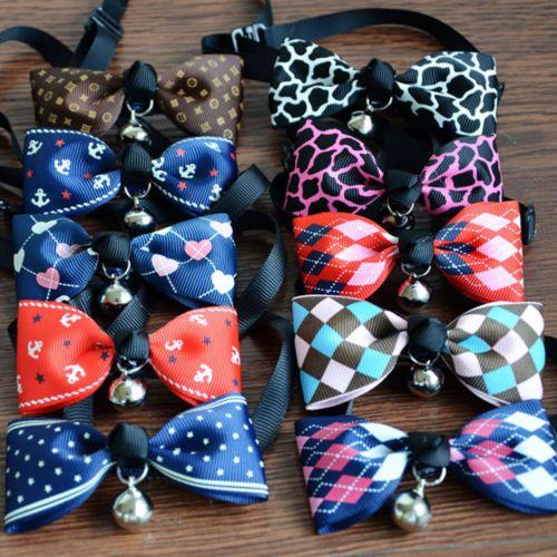 Verstellbare-Hund-Katze-Haustier-Suess-Krawatte-Glocken-Kragen-Zubehoer-Halskette