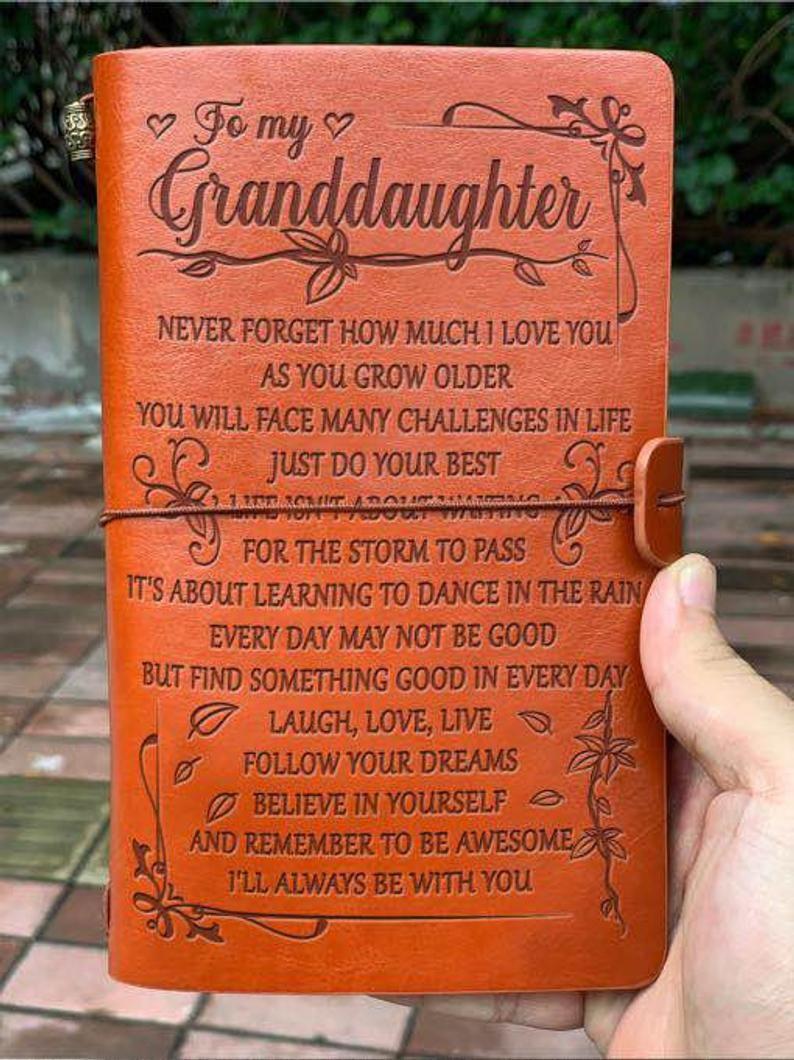 To My Granddaughter Journal Gift Love From Grandma