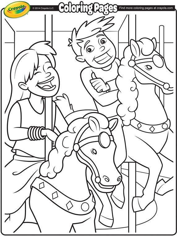 Carousel Horses on crayola.com | Mt. Logan Coloring and Activity ...