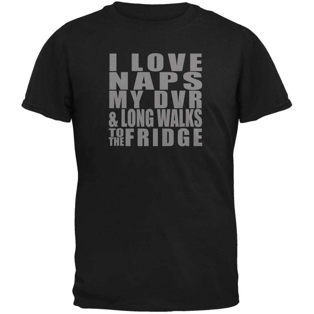Naps DVR Fridge Funny Black Adult T-Shirt