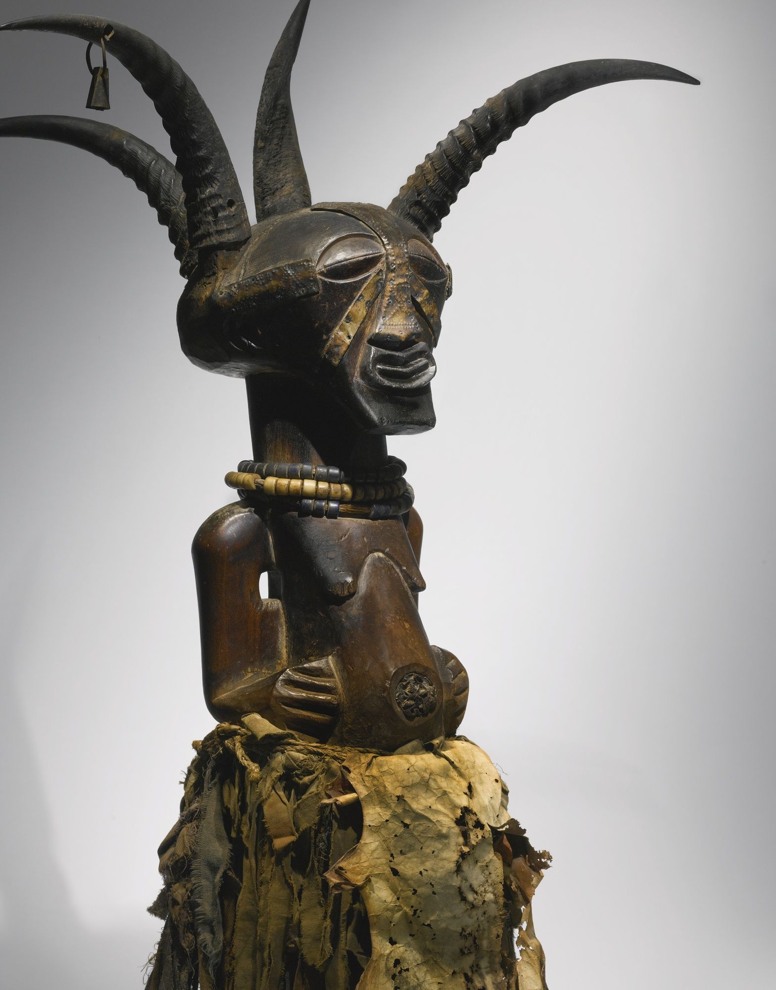 "Songye ""Four Horn"" Community Power Figure, Democratic Republic of the Congo 
